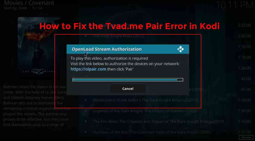 how to fix Kodi Vidup.me/pair