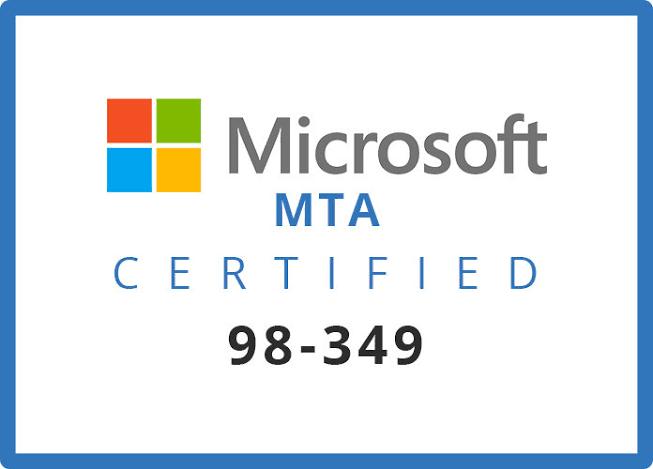Microsoft 98-349 Exam